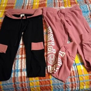 Victoria Secret Pink 2 piece sweatpants